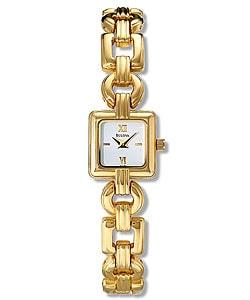 Bulova Women's White Dial Goldtone Steel Watch - Thumbnail 0