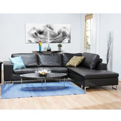 Thane Bi-cast Leather 2-piece Sectional Sofa - Thumbnail 0