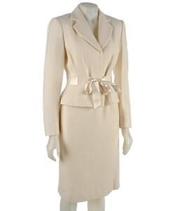 tahari asl s 2 winter white skirt suit free