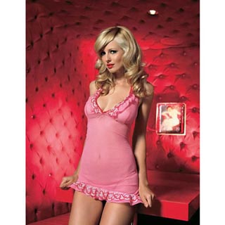 Teddy with Heart Lace Trim (2 Piece Set)