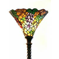 Tiffany Style Grape Torchiere Lamp