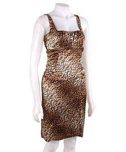 Thumbnail 1, Essentials by A.B.S Sheath Leopard Print Dress.
