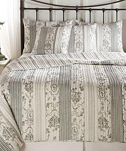 Shop Anastasia Toile Black Quilt Bedding Set Free