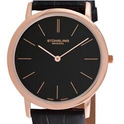 Stuhrling Original 'Ascot' Men's Swiss Quartz Strap Watch