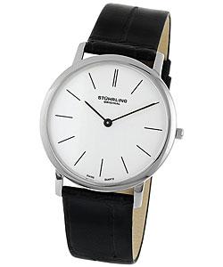 Stuhrling Original Ascot Men's White Dial Strap Watch