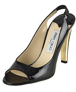 Jimmy Choo Patent Leather Open Toe Sandals
