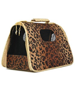 Leopard Print Fashion Pet Tote. Opens flyout.