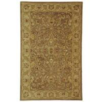 Safavieh Handmade Antiquities Treasure Brown/ Gold Wool Rug - 3' x 5'