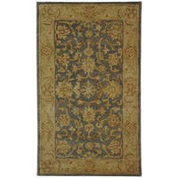 Safavieh Handmade Antiquities Jewel Grey Blue/ Beige Wool Rug - 3' x 5'