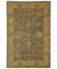 Safavieh Handmade Antiquities Jewel Grey Blue/ Beige Wool Rug - 4' x 6'