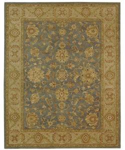 Safavieh Handmade Antiquities Jewel Grey Blue/ Beige Wool Rug (9'6 x 13'6)