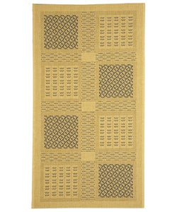 Safavieh Lakeview Natural/ Blue Indoor/ Outdoor Rug - 2'7 x 5' - Thumbnail 0