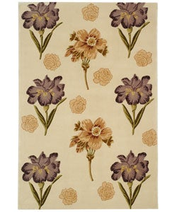 Safavieh Handmade Iris Ivory New Zealand Wool Rug (5' x 8')