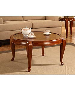 Shop Burl Round Coffee Table Free Shipping Today Overstock