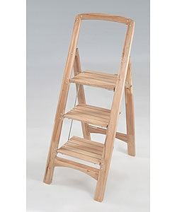 Terrific Three Step Wooden Step Stool Overstock Com Shopping The Best Deals On Step Ladders Pabps2019 Chair Design Images Pabps2019Com