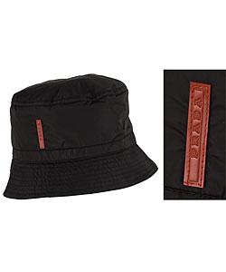 Shop Prada Black Nylon Bucket Hat - Free Shipping Today - Overstock ... 1070e41ceaf
