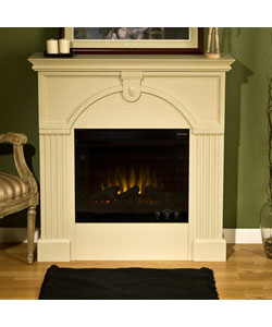 Luxemburg Antique White Electric Fireplace Free Shipping Today 10852570