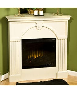Turin Antique White Electric Corner Fireplace Free Shipping Today 10852573