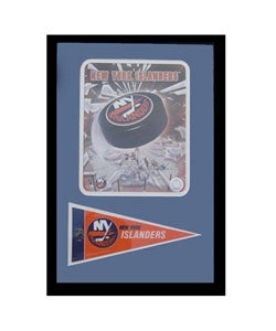 New York Islander Logo with Mini Pennant Frame - Thumbnail 0