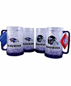 Baltimore Ravens Crystal Freezer Mug (4 Pack) - Thumbnail 0