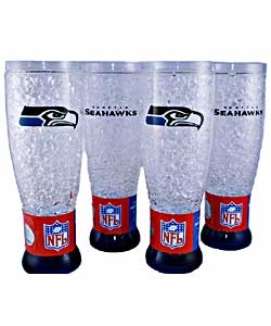 Seattle Seahawks Crystal Pilsners (Pack of 4) - Thumbnail 0