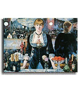 Bar at Follies Bergere by Manet Stretched Canvas