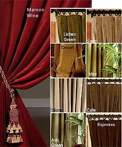 Signature Velvet Double-wide Curtain (108 in.) - Thumbnail 0