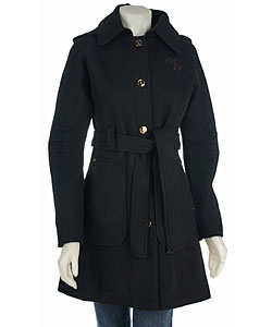 d71d104bfcd4 Shop Baby Phat Women s Wool Trench Coat - Free Shipping Today ...