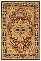 Safavieh Handmade Heritage Traditional Tabriz Red/ Black Wool Rug (3' x 5')
