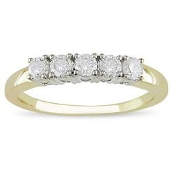 14k Five Stone 1/2ct TDW Diamond Anniversary Ring (H-I,I2-I3)