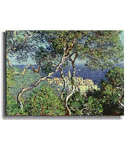 Landscape at Bordighera by Monet Stretched Canvas