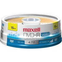 Maxell 16x DVD-R Media (Pack of 15)