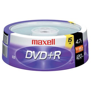 Maxell 16x DVD+R Media (Pack of 15)