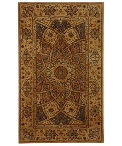Safavieh Handmade Persian Court Timeless Ivory Wool and Silk Rug (2' x 3')