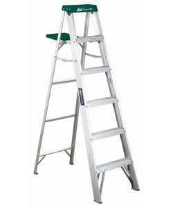 Aluminum 6-foot 225-pound Rated Step Ladder