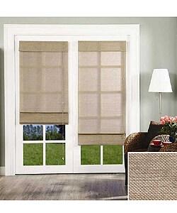 Chicology Roman Shade Jute Fabric Privacy Nevada Timberwolf Grey (36-inch x 72-inch )