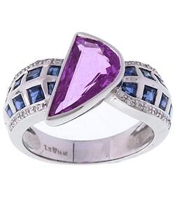 Thumbnail 1, Encore by Le Vian 18k Gold Pink Sapphire Diamond Ring.