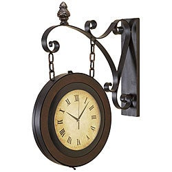 Large Handcrafted Hanging Double Face Clock