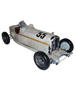 Antique Toy Replica Metal Boat-tail Racer Model Car - Thumbnail 0