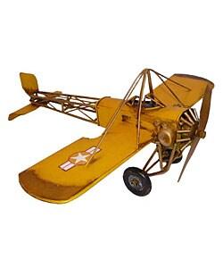 Antique Toy Replica Metal Single-Seat Model Plane - Thumbnail 0