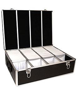 CD/ DVD Black 1000 Aluminum Storage DJ Case - Thumbnail 0