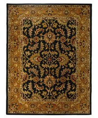 Safavieh Handmade Heritage Traditional Kashan Dark Green/ Gold Wool Rug - 8'3 x 11'
