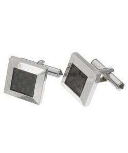 Men's Titanium and Black Ceramic Cufflinks