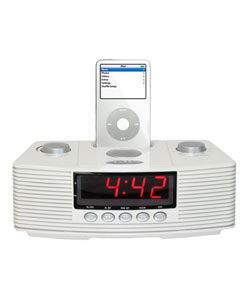 cta digital sound rise ipod dock alarm clock radio free shipping on order. Black Bedroom Furniture Sets. Home Design Ideas