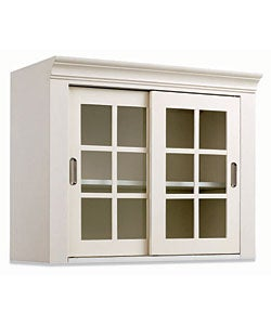 White Wall Storage Cabinet With Sliding Glass Doors Free Shipping