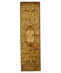 Safavieh Handmade Classic Royal Beige/ Olive Wool Runner (2'3 x 10')