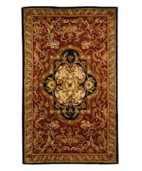 Safavieh Handmade Classic Royal Red/ Black Wool Rug (3' x 5')