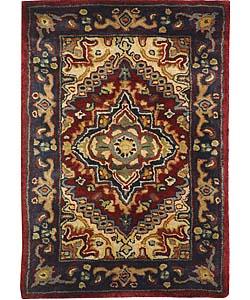 Safavieh Handmade Classic Herize Red Wool Rug (2' x 3')