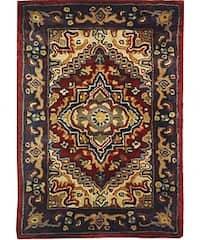 Safavieh Handmade Classic Heriz Red Wool Rug - Multi - 2' x 3'