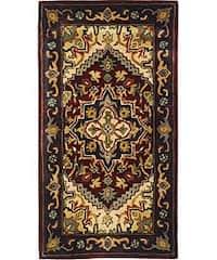 Safavieh Handmade Classic Heriz Red Wool Runner Rug - 2'3 x 4'